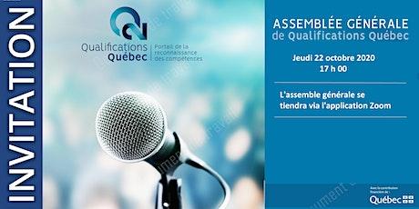 Qualifications Québec - Assemble générale annuelle 2020 billets