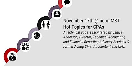 Hot Topics for CPAs tickets