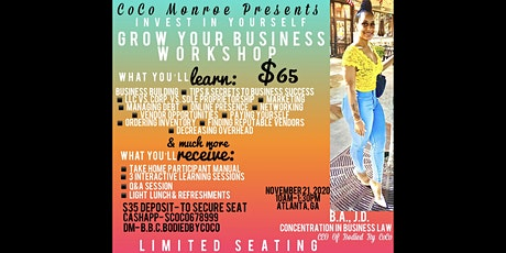 Invest In Yourself Grow Your Business Workshop tickets