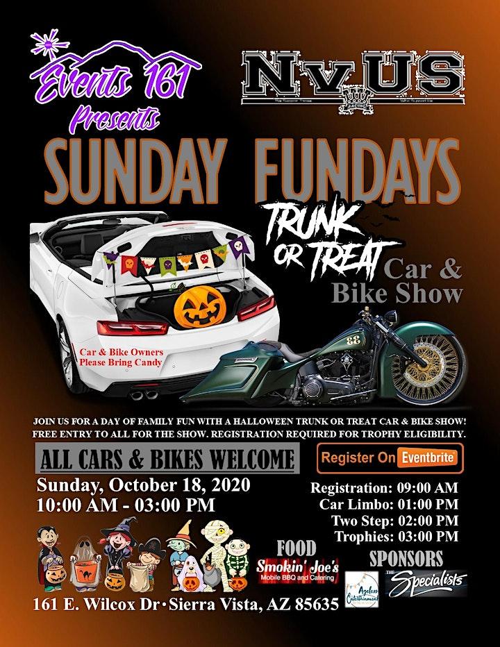Halloween Events Arizona 2020 Sierra Vista And Tucson Sunday Fundays Trunk or Treat Car & Bike Show SV Tickets, Multiple