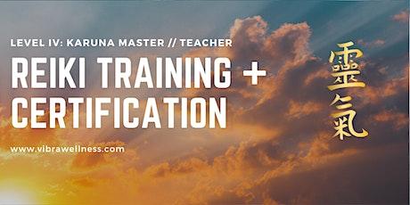 Karuna Reiki Master Training and Certification tickets