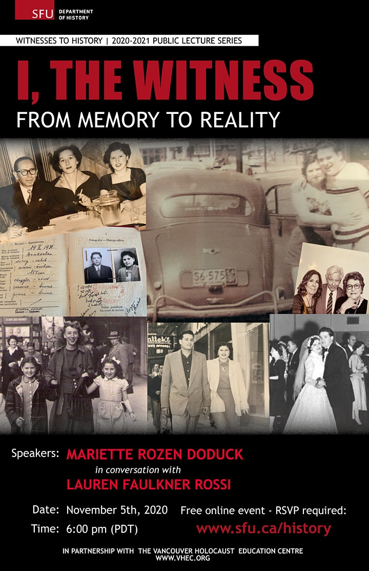 Witnesses to History: I, The Witness - From Memory to Reality image
