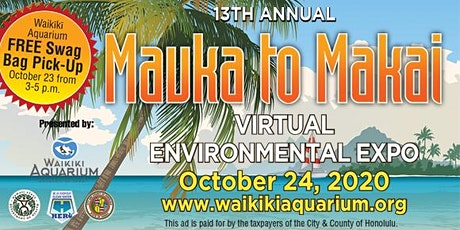 13th Annual Mauka to Makai 2020 - FREE BAG PICK UP tickets