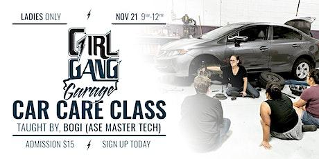 November Women's Car Care Class tickets