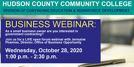 Open Forum  Q & A with Hudson County Office of Business Opportunity tickets