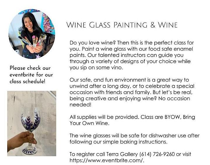 Wine Glass Painting , BYOB, Paint Wine Glasses, Wine Glass Class image