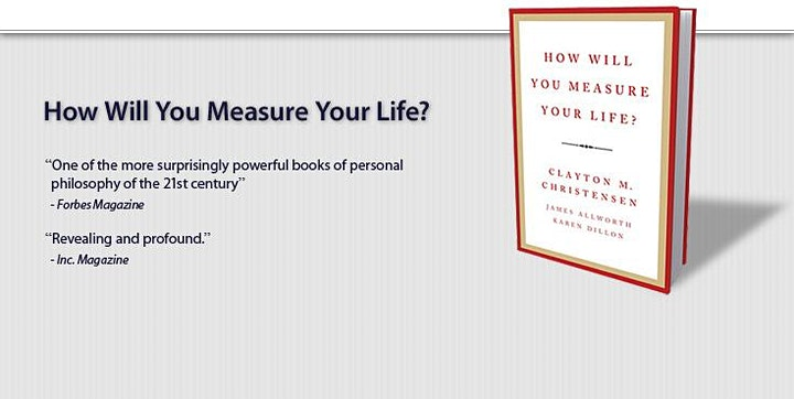 Book Review & Discussion : How Will You Measure Your Life? image