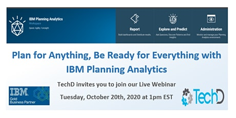 IBM Planning Analytics for Cloud Pak For Data ! Live Webinar Oct 20th tickets