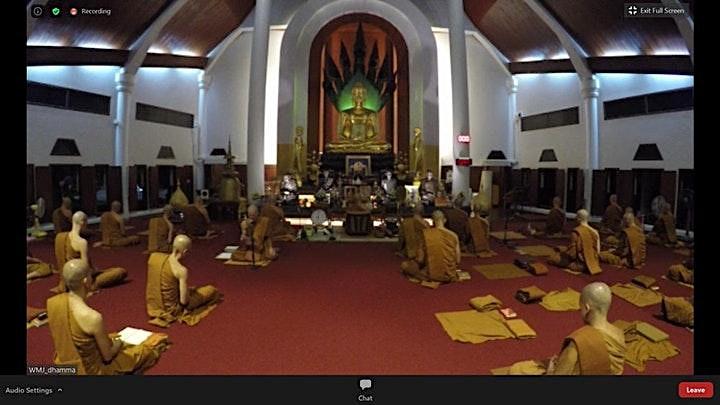Wat Marp Jan  Daily Chanting and Dhamma talk @ NDR  (Thai/Eng)护法苑晚课与开示 -泰/英 image