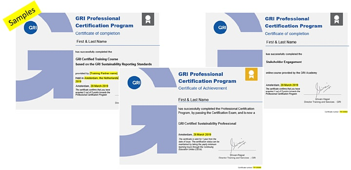 GRI Certified Sustainability Professional Program image