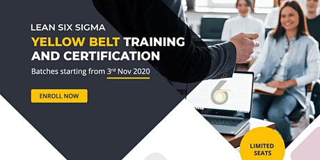 Lean Six Sigma Yellow Belt Online Training and Certification tickets