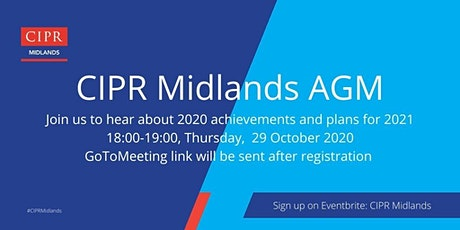 CIPR Midlands AGM tickets