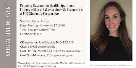 Pursuing Behavior Analytic Research in Health, Sport, and Fitness tickets