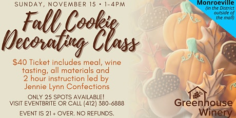 Fall Cookie Decorating Class at Monroeville Mall