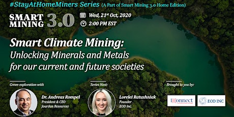 Smart Climate Mining: Minerals & Metals for Current & Future Societies tickets
