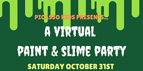 Picasso Kids Presents...A Virtual Canvas Paint & Slime Party!! tickets