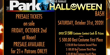HALLOWEEN 2020 at THE PARK! tickets