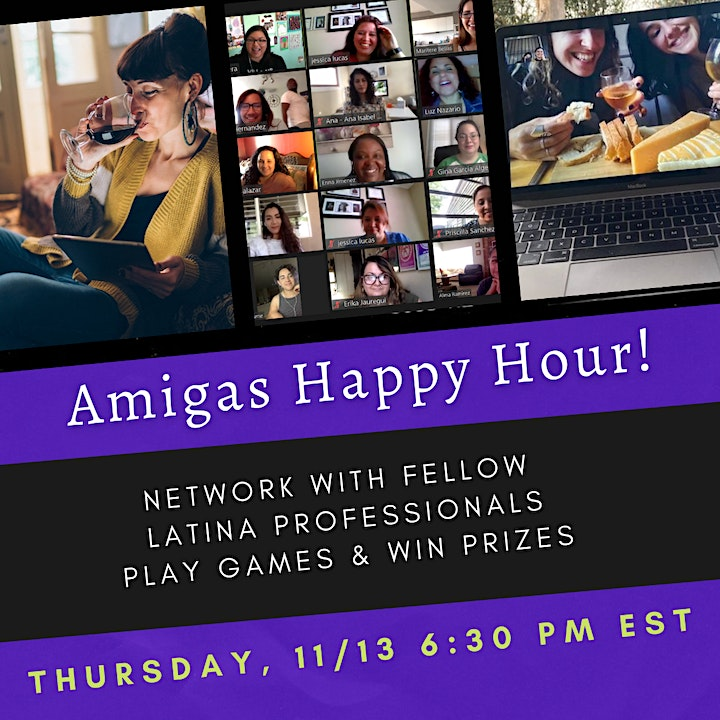 LatinaMeetup's AMIGAS Happy Hour  (11/12) Networking + Games & Prizes image