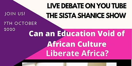 Can An Education Void of  African Culture Liberate Africa? tickets