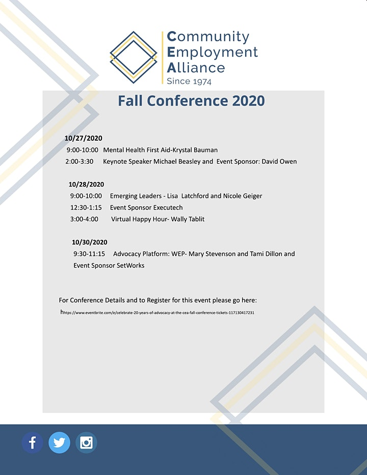 Celebrate 20 Years of Advocacy at the CEA Fall Conference image