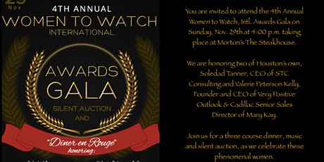 4th Annual Women to Watch International Awards - Diner en Rouge tickets