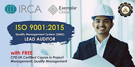 FREE ISO 9001:2015 IRCA Certified Lead Auditor Course Webinar (DEMO CLASS) biglietti