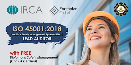 FREE ISO 45001:2018 IRCA Certified Lead Auditor Course Webinar (DEMO CLASS) biglietti