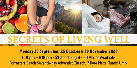 Secrets of Living Well tickets