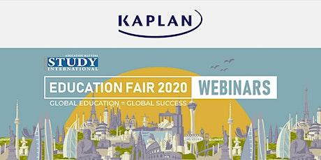 Post-Fair FREE Webinar:  Study in Singapore - Kaplan! tickets