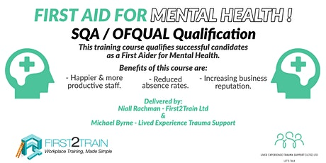 Qualification in First Aid for Mental Health tickets