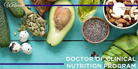 Webinar | Doctor of Clinical Nutrition Program; Progressing Your Career. tickets