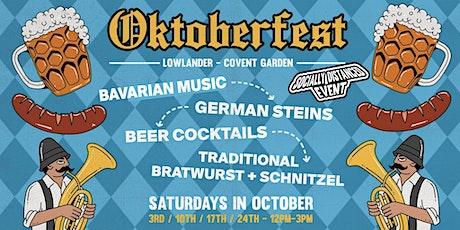 Oktoberfest in Covent Garden tickets