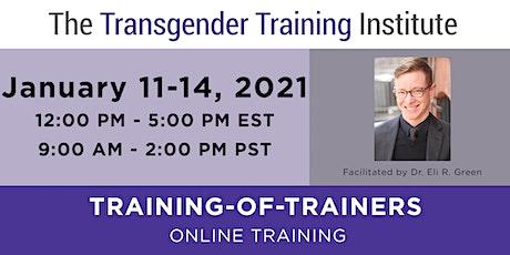 TTI's Training of Trainers -ONLINE- Jan 11-14, 2021 (12-5 PM ET/9AM-2PM PT) tickets