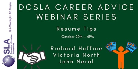 DC SLA Career Advice Webinar: Resume Tips tickets