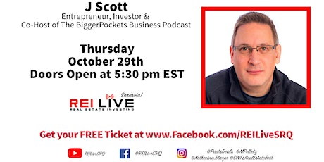 J Scott joins REI Live SRQ! tickets