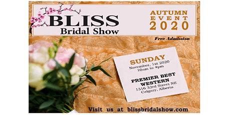 BLISS BRIDAL AUTUMN EVENT 2020 tickets