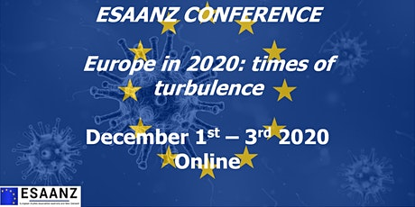 ESAANZ CONFERENCE 2020: Europe in 2020: times of turbulence tickets