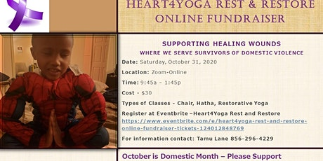 Heart4Yoga Rest and Restore Online Fundraiser tickets