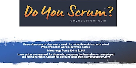 Certified ScrumMaster (CSM) class: Dec 2020 (Online over 3 afternoons)