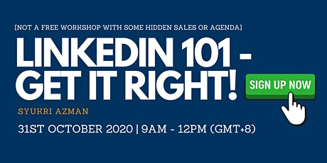 LinkedIn 101 - Get It Right! tickets