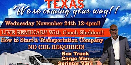 Box Truck, Cargo Van, Sprinter Van Meet up & LIVE SEMINAR!!! tickets