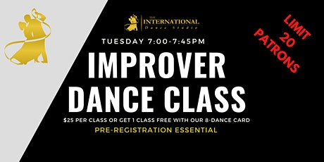 [NOVEMBER] 4 Improver Adult Ballroom, Latin & New Vogue Dance Classes