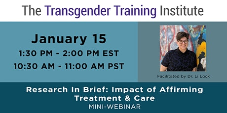 Research In Brief Series:  Impact of Affirming Treatment & Care tickets