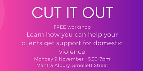 Cut it Out - DV info forum tickets