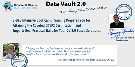 Data Vault 2.0 Boot Camp & Certification-(NOV 25-27)- Instructor-Led Online tickets