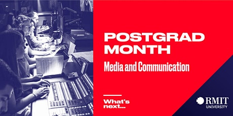 RMIT Postgrad Month: What's Next in Media & Communication tickets