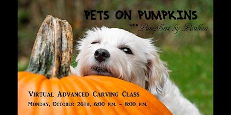 PETS ON PUMPKINS Adult Advanced Pumpkin Carving Class tickets