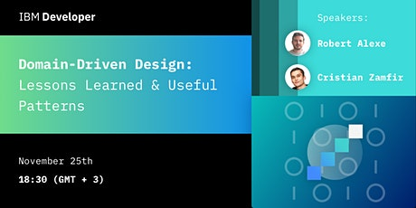 Domain-Driven Design: Lessons Learned & Useful Patterns tickets
