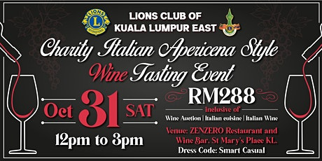Charity Italian Apericena Style Wine Tasting Event tickets