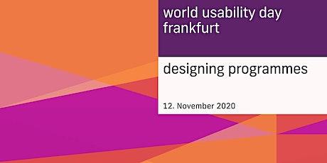 Designing Programmes – WUD Frankfurt 2020 Tickets
